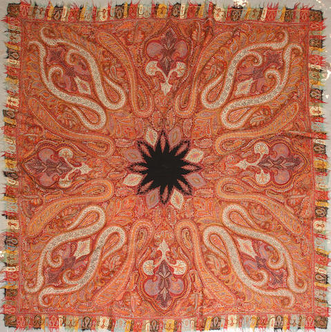 A Paisley shawl size approximately 6ft. x 6ft. 2in.