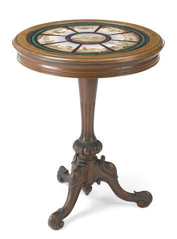 An Italian micro mosaic table <BR />mid 19th century