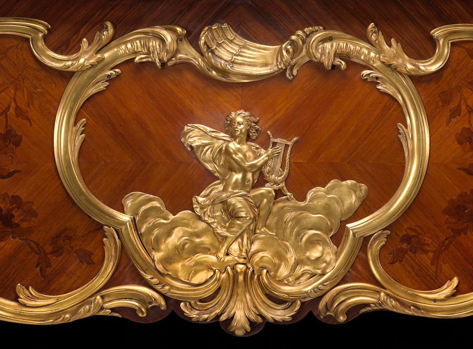 A very fine and historical Louis XV style gilt bronze mounted kingwood and marquetry Steinway art case piano Model L, Serial No. 23914; Case No. C3264 1924-1925