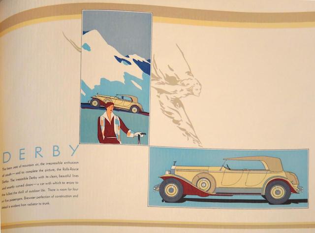 "A Rolls-Royce Springfield ""Phantom I"" sales brochure, c.1931,"