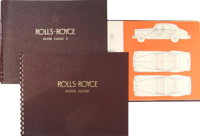 A three piece grouping of Rolls-Royce sales brochures,