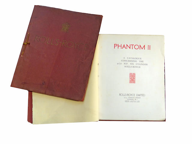 "Two Rolls-Royce ""Phantom II"" 40/50 H.P. sales brochures ."