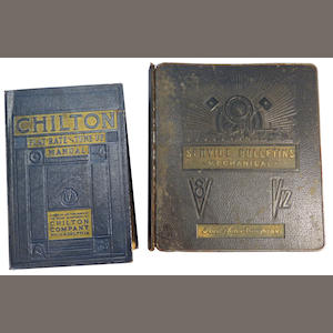 A lot of two pre-war American Autos service manuals,