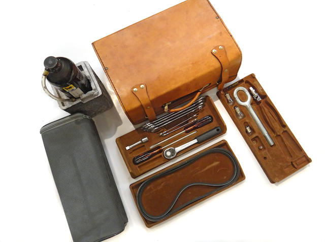 A fine Ferrari leather tool kit,