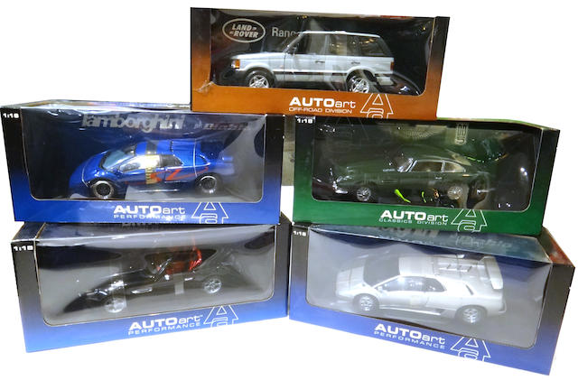 A collection of Auto Art 1:18 scale models,