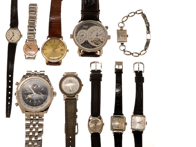 A quantity of wristwatches: previously lines 130, 148, 159, 161, 162, 163