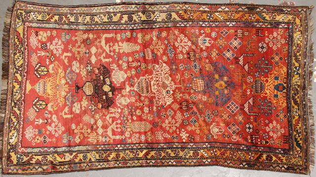 A Kurdish rug  size approximately 3ft. 9in. x 6ft. 11in.