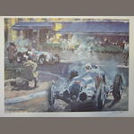 A limited edition Walter Gotchske print Grand Prix Of Manaco,