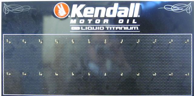 A NOS Kenndall motor oil 24 key hanger service station sign,