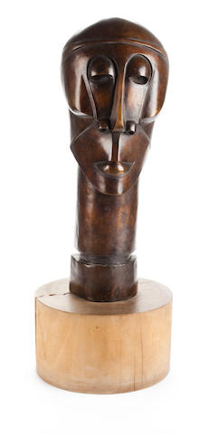 Dumile Feni-Mhlaba (Zwelidumile Mxgazi) (South African, 1942-1991) Anthony Quinn, circa 1975 66.7 x 26.7 x 26.7cm (26 1/4 x 10 1/2 x 10 1/2in).