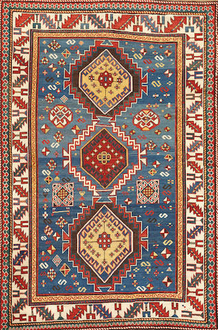 A Kazak rug Caucasus size approximatly 4ft. 5in. x 6ft. 7in.