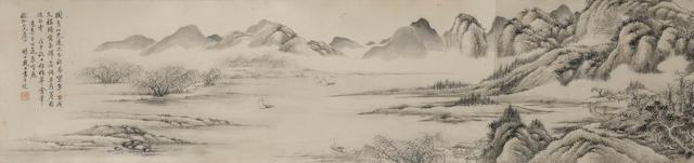 Dai Xi (1801-1860) Ink Landscape after Wu Zhen, 1858