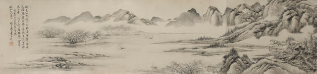 Dai Xi (1801-1860) Ink Landscape after Wu Zhen, 1858