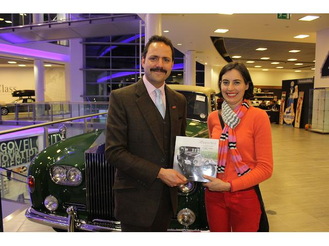 Tim Schofield receives Coachbuilder book