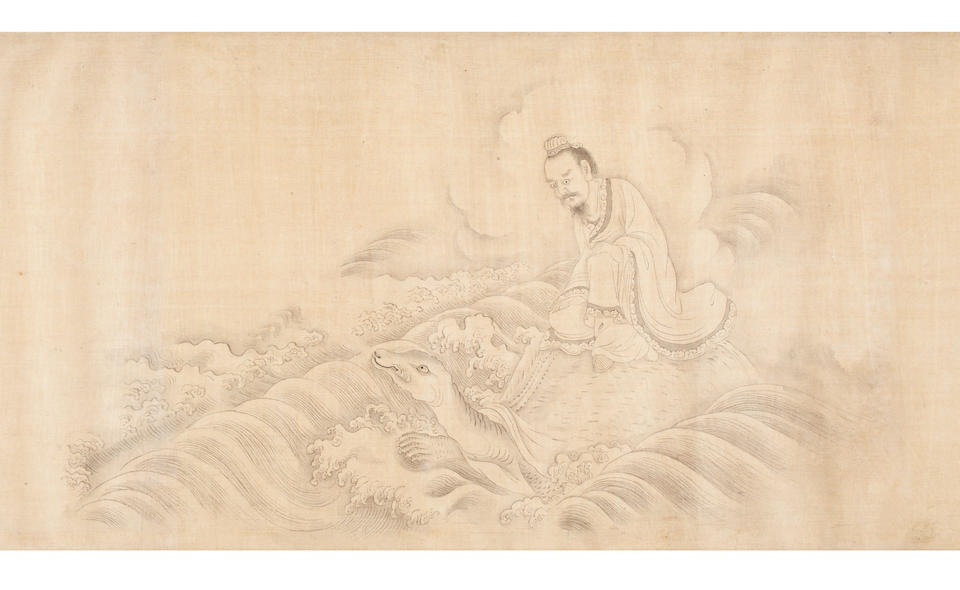 Attributed to You Qiu (c. 1525-1580) Deities In  Baimiao Style