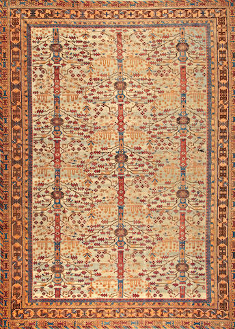 A Khotan carpet Turkestan size approximately 11ft. 2in. x 15ft.