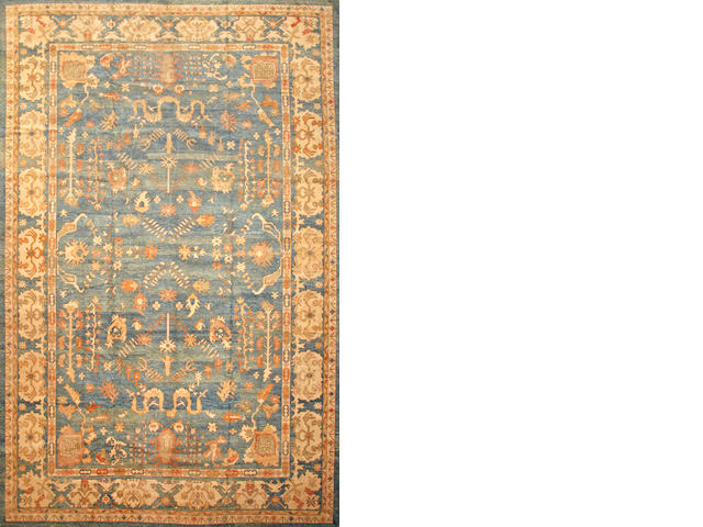 A Contemporary Oushak carpet West Anatolia size approximately 11ft. 7in. x 18ft. 7in.
