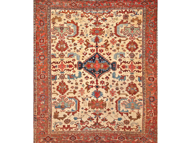 A Serapi carpet  Northwest Persia size approximately 9ft. 9in. x 11ft. 3in.