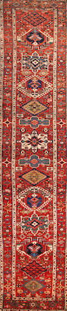 A Bakshaish runner Northwest Persia size approximately 3ft. 4in. x 16ft.