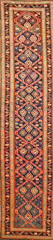 A Caucasian runner Caucasus size approximately 3ft. 3in. x 14ft. 1in.