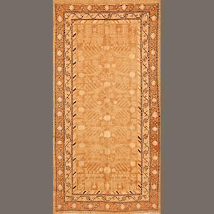 A Samarkand rug  Turkestan size approximately 4ft. 7in. x 9ft.