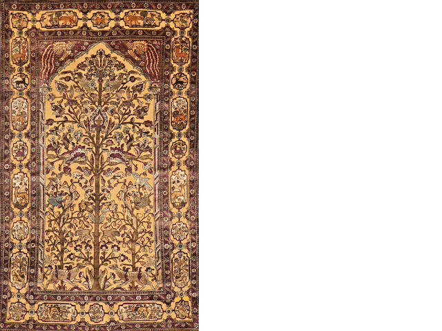 A Souf Kashan rug  Central Persia size approximately 4ft. 1in. x 6ft. 10in.