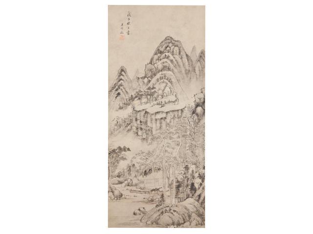 Wang Shimin (1592-1680) Ink Landscape, 1648
