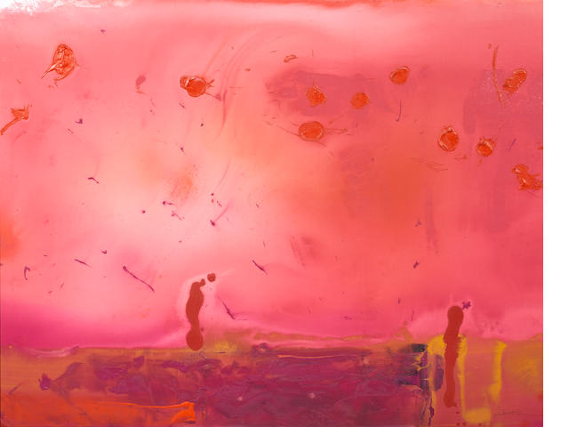 Helen Frankenthaler (1928-2011) Red Shift, 1990 60 x 76in. (152.4 x 193cm)