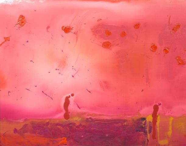 Helen Frankenthaler (1928-2011) Red Shift, 1990 60 x 76in. (152.4 x 193cm)