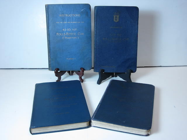 A grouping of Rolls-Royce 40/50 hp 'Phantom' handbooks for models I,II,III,