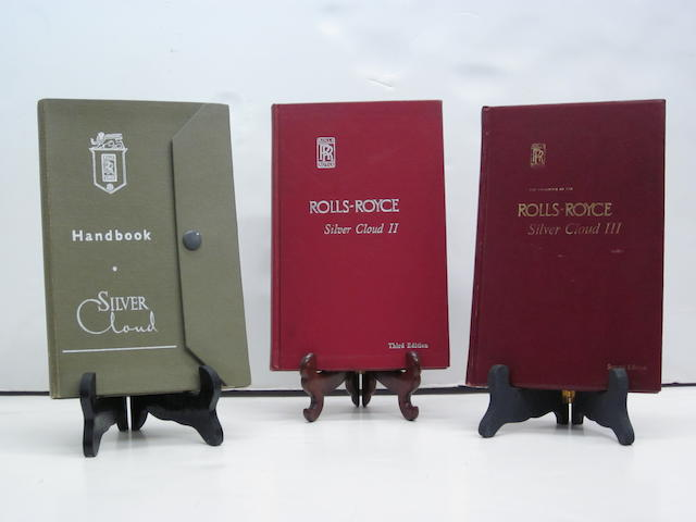 A set of Rolls-Royce Silver Cloud handbooks, I,II,III,