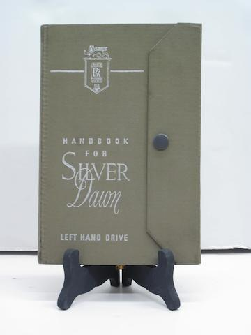 A Rolls-Royce Silver Dawn handbook left hand drive,