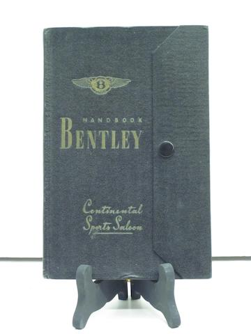 A Bentley Continental Sports Saloon handbook,