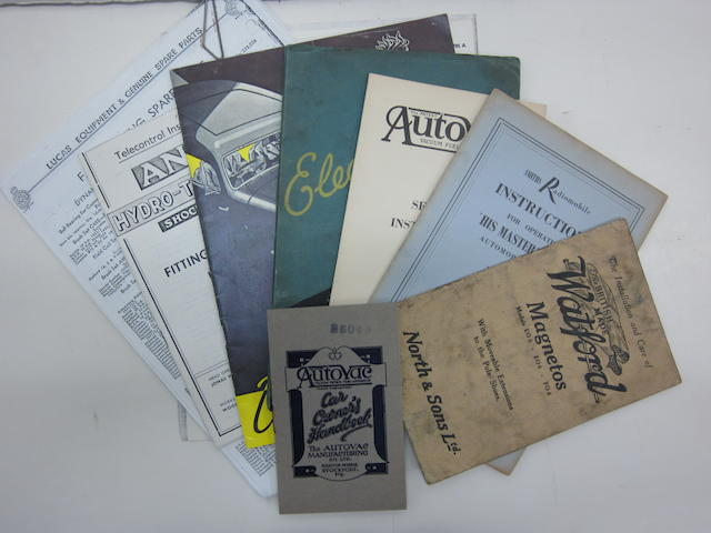 An interesting lot of original English make accessory catalogs,
