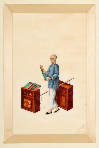 Anonymous (19th century) A collection of Chinese export paintings on pith