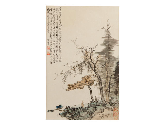 Pu Ru (1896-1963), Eight Framed Album Leaves