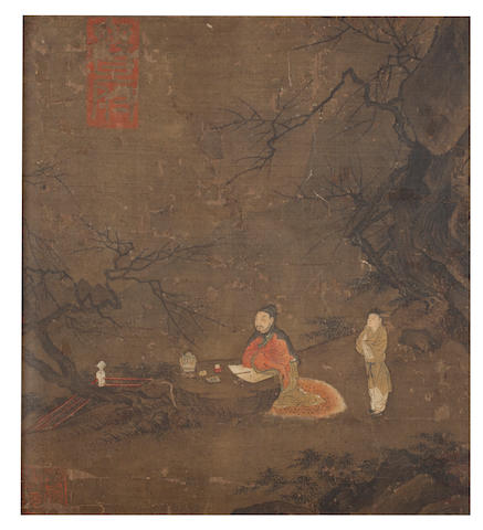 Attributed to Liu Songnian (circa 1150-1225) Scholar and Attendant 13th/14th century