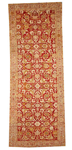 A Sultanabad long carpet  Central Persia size approximately 6ft. 1in. x 16ft. 3in.