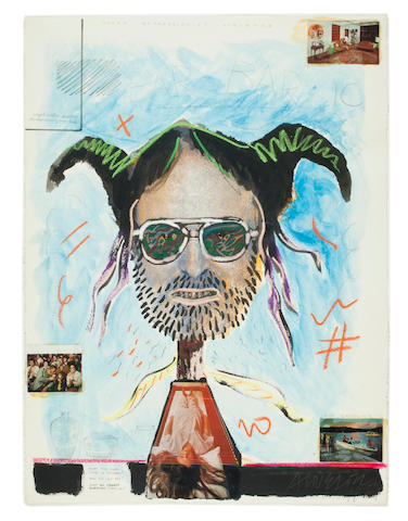 Robert Arneson (1930-1992) Barbaric Enthusiams, 1974 30 x 22 1/4in (76.2 x 54cm)