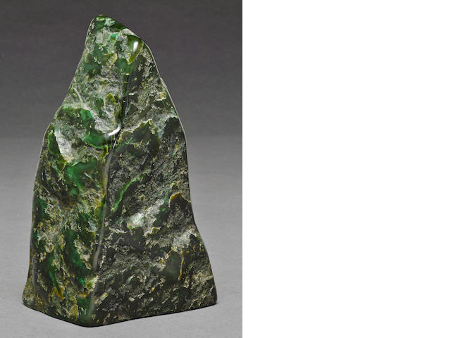 A chloromelanite scholar's rock, gongshi