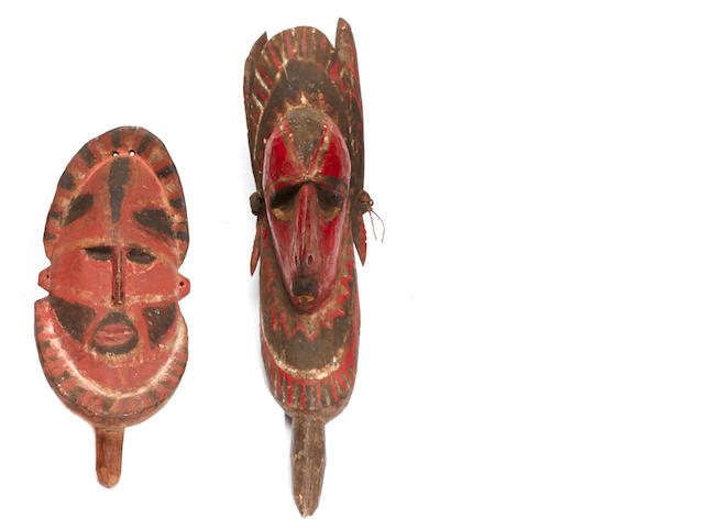 A group of two New Guinea masks, Sepik