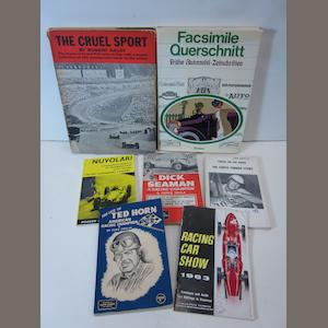 A collection of motor racing titles,