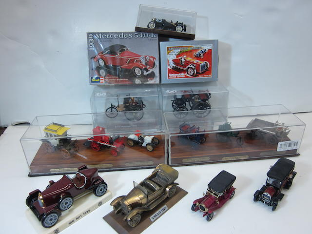 A collection of scale models,