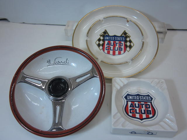 A lot of United States Auto Club ash trays,