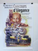 A lot of signed Amelia Concours d'Elegance advertising posters,