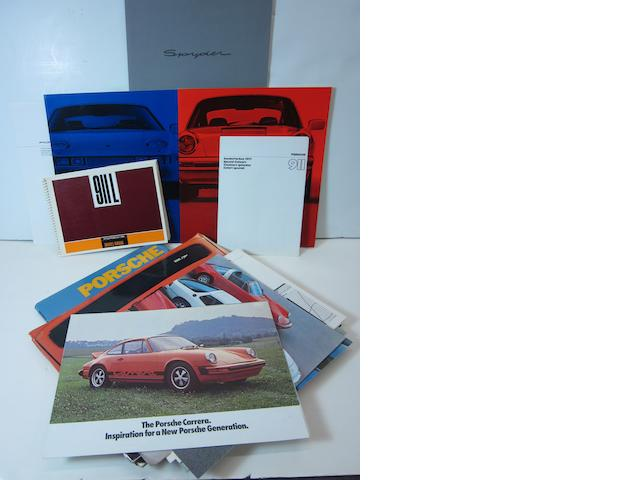 A grouping of Porsche related literature,