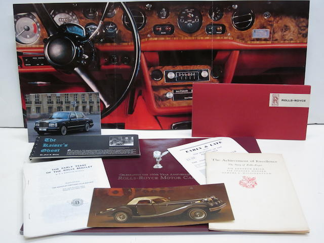 A large ensamble of modern Rolls-Royce brochures and literature,