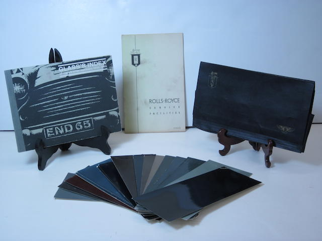 A post war Rolls-Royce/Bentley color and finish cards in original envelope,