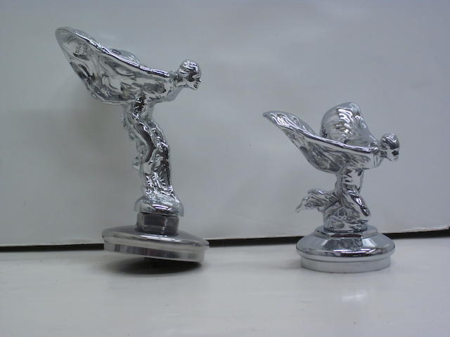 A lot of two Rolls-Royce 'Spirit of Ecstasy' mascots,