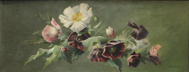 William Hubacek (American, 1871-1958) California wildflowers 14 x 36in